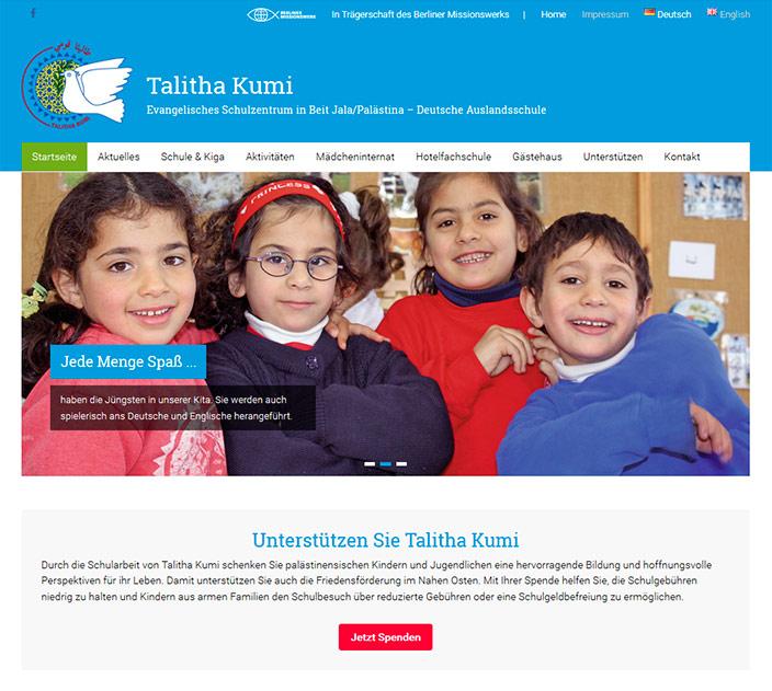 Webdesign Berlin: Talitha Kumi